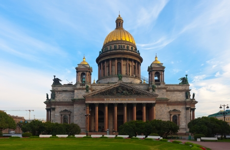 Saint Isaacs Cathedral in St. Petersburg in summer. Russia photo