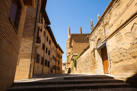 olden day: Old narrow street of Huesca. Aragon