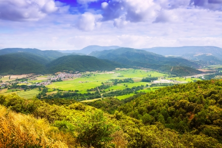 alt:  View of catalan mountains valley. Alt Urgell, Catalonia