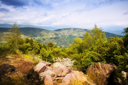 alt: Summer view of Pyrenees mountains. Alt Urgell, Catalonia