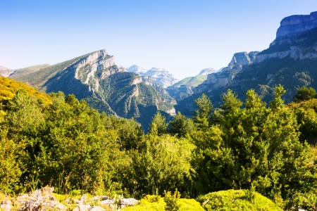 Simple Pyrenees mountains landscape in summer.  Aragon