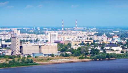 nizhni novgorod:   industry district at Nizhny Novgorod in summer. Russia Stock Photo