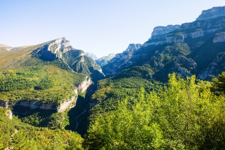 anisclo: Pyrenees Mountains landscape - Anisclo Canyon in summer. Huesca, Aragon