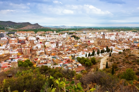valencian: Panoramic view of Sagunto.  Valencian Community, Spain