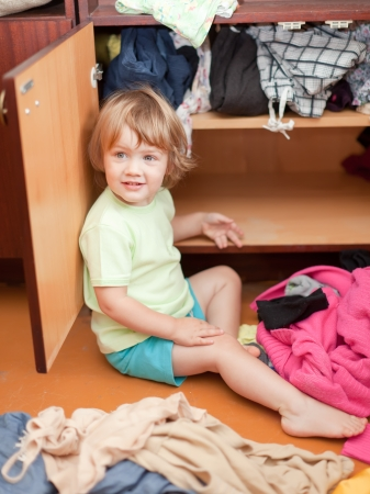 hellion:  Baby girl  chooses dress in parents closet