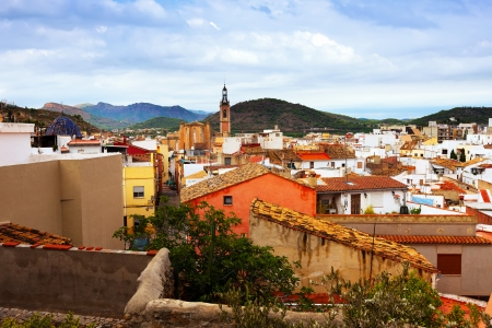 valencian: General view of town at Valencian Community. Sagunto