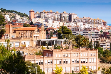 view of Barcelona from Park Guell. Catalonia, Spain Stock Photo - 23162525