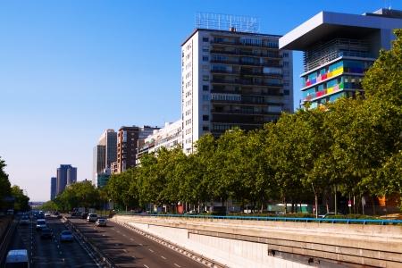 castellana: Paseo de la Castellana - most important street in new areas of Madrid. Spain