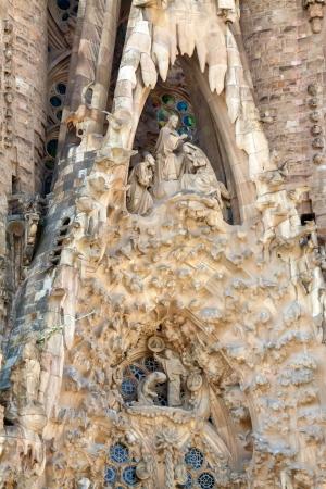 heilige familie: Detail der Basilika und Expiatory Kirche der Heiligen Familie (Sagrada Familia) in Barcelona