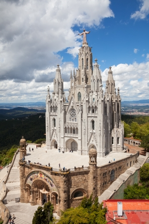 Expiatory Church of the Sacred Heart of Jesus. Barcelona Stock Photo - 23178108