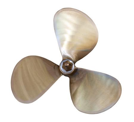 speedboat propeller. Isolated over white