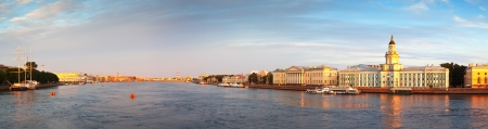 Panoramic view of Neva river in summer. Saint Petersburg, Russia photo