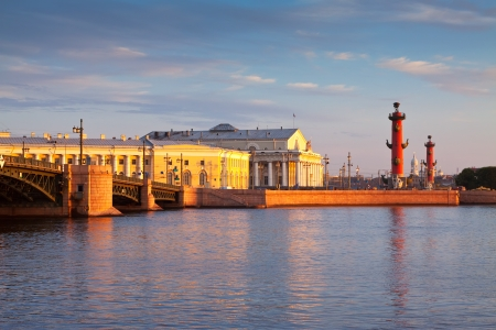 saint petersburg: View of Saint Petersburg.  Spit of Vasilievsky Island  in summer morning