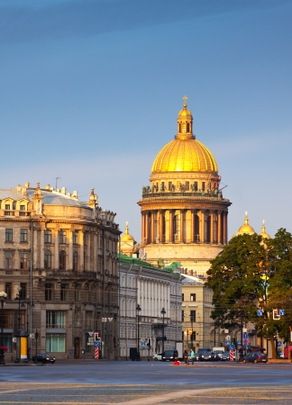 Views of St.Petersburg. Saint Isaacs Cathedral in summer