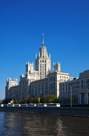 kotelnicheskaya embankment: Kotelnicheskaya Embankment Building (was build in 1947- 1952). Moscow, Russia Editorial