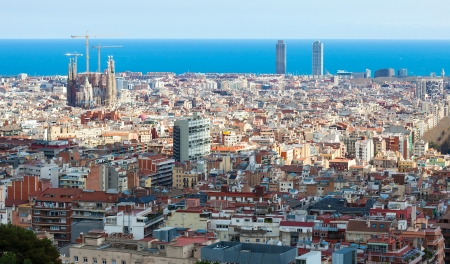megalopolis: Top day kind of Barcelona  Spain Editorial