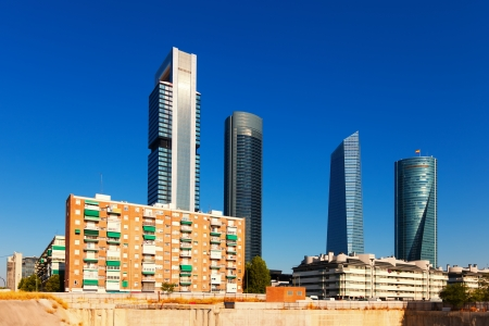 View of Madrid with Cuatro Torres Business Area. Spain