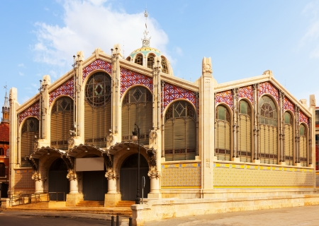 mercado central: Exterior of Central Market in Valencia. Spain Stock Photo