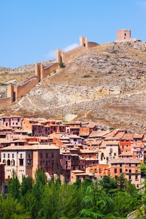 Albarracin with  fortress wall. Teruel,  Spain photo