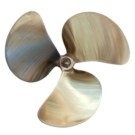 three-bladed propeller. Isolated over white  photo