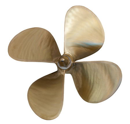 four-bladed propeller. Isolated over white