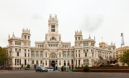 palacio de comunicaciones: MADRID, SPAIN - APRIL 26  Palace of Communication in April 26, 2013 in Madrid, Spain  Palace of Communication, since 2011 named Cibeles Palace  Palacio de Cibeles  Editorial