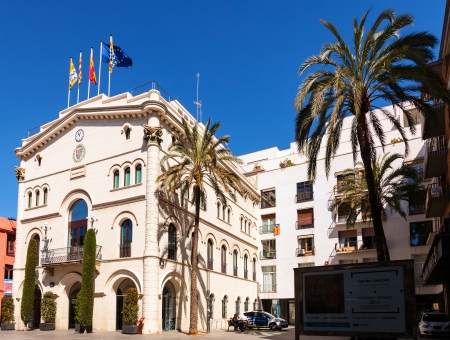 3rd century: BADALONA, SPAIN - MARCH 25: Old Town Hall Town Hall in March 25, 2013 in Badalona, Spain. City was founded by the Romans in the 3rd century BC.  Population: 220,977 (2012 Census)
