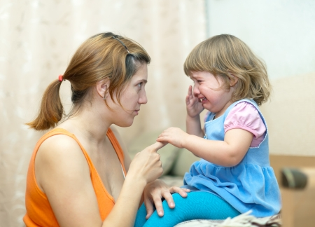 tantrum: Woman berates crying baby in home