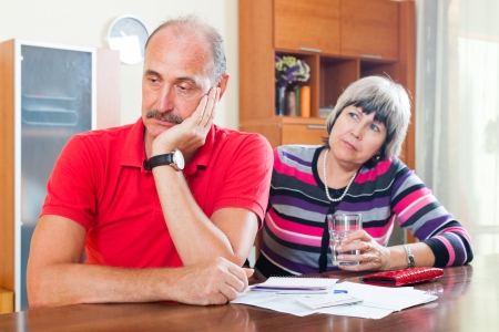 covetous: Financial problems. Senior couple did not have money to repay the loan
