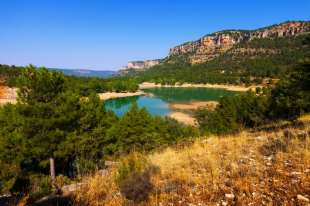 high sierra: horizontal landscape with mountains lake.  Spain Stock Photo