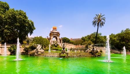 Cascada fountain in Barcelona in summer day. Catalonia, Spain photo