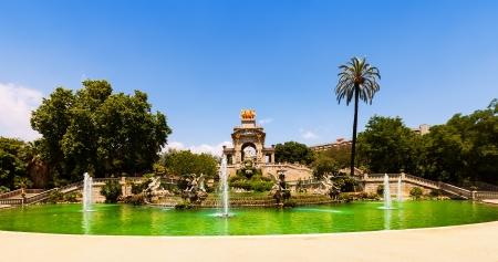 Cascada fountain at Parc de la Ciutadella in Barcelona photo