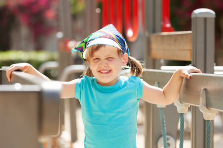 adroitness: Portrait of laughing three-year girl Stock Photo