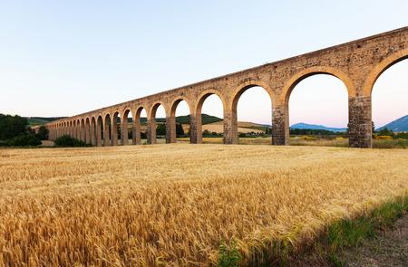 acueducto: Acueducto de Noain by architect Ventura Rodriguez. Navarre