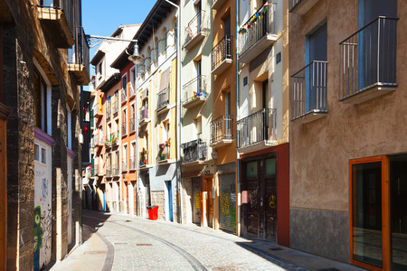 navarre: Old street in  Pamplona. Navarre  Editorial
