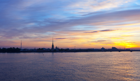 View of St. Petersburg. Peter and Paul Fortress in morning photo