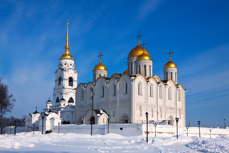 Dormition Cathedral in Vladimir, constructed between 1158—1160. Russia  photo