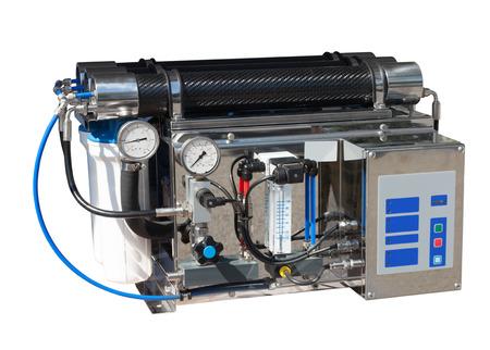 livelihoods: Reverse osmosis system. Isolated over white Stock Photo