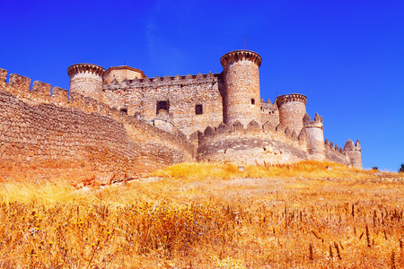Gothic-Mudejar castle in Belmonte.  Cuenca, Spain
