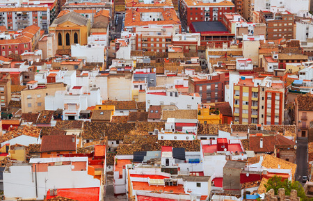 residence district of european town. Sagunto, Valencian Community Stock Photo - 26234695
