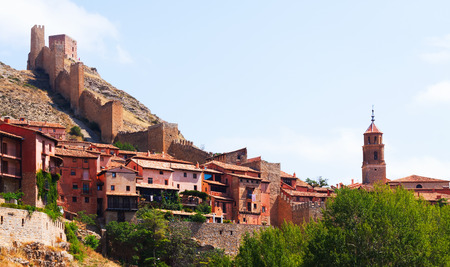 ancient  wall in Albarracin. Aragon, Spain photo