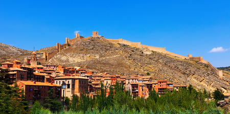 General view of city wall in Albarracin. Aragon, Spain photo