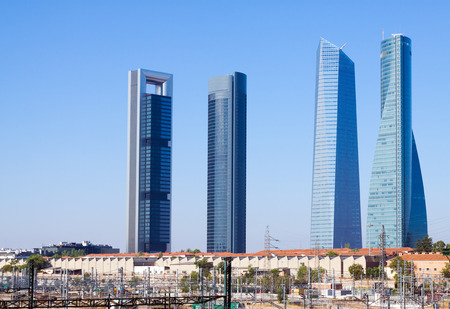 Four Towers Business Area. Madrid, Spain photo