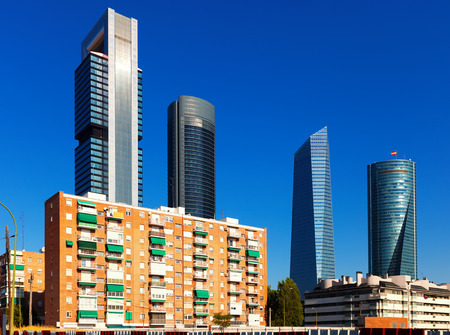 View of Madrid with  Four Towers Business Area. Spain photo