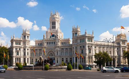 palacio de comunicaciones: MADRID, SPAIN - AUGUST 29: Palacio de Cibeles on August 29, 2013 in Madrid, Spain Editorial