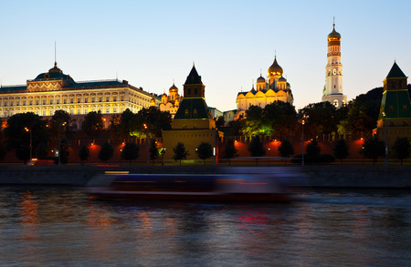 View of Moscow Kremlin in summer sunset. Russia photo