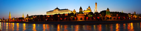 View of Moscow Kremlin in summer night. Russia photo