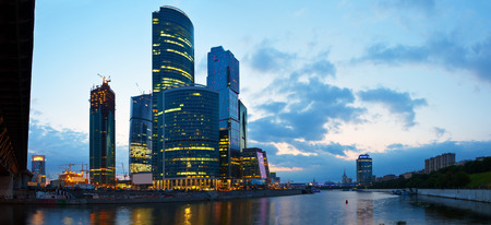 Skyscrapers International Business Center (City) at morning, Moscow, Russia