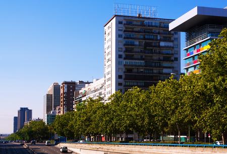 castellana: Paseo de la Castellana - most important street in the new areas of Madrid. Spain