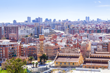 Top view of residence district in Badalona. Barcelona, Spain Stock Photo - 27033054